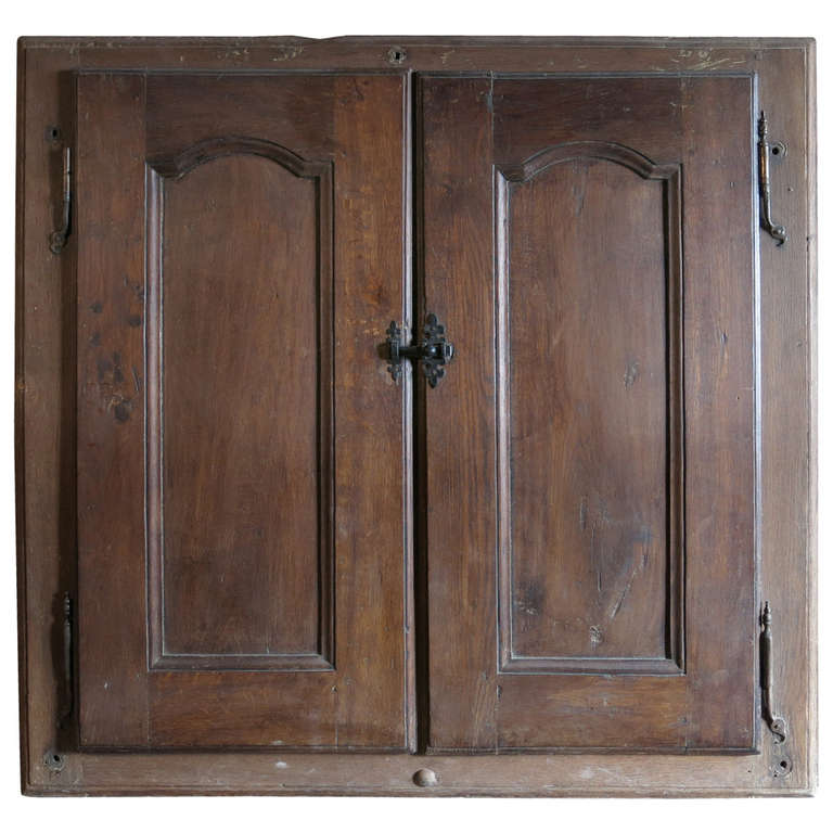 "French Louis XIV Period ""Cupboard"" in Oak Handcarved 18th Century from France For Sale"
