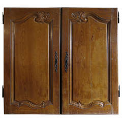 French Louis XV Period Cabinet-Doors in Oak circa 1750 from France