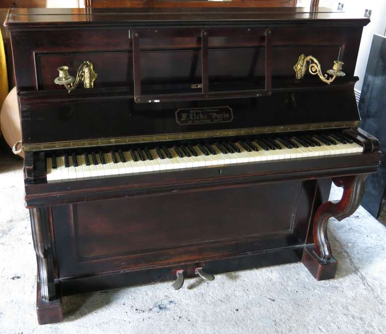 French Piano From Paris Signed Quot Elke Quot Diplome D Honneur At 1stdibs