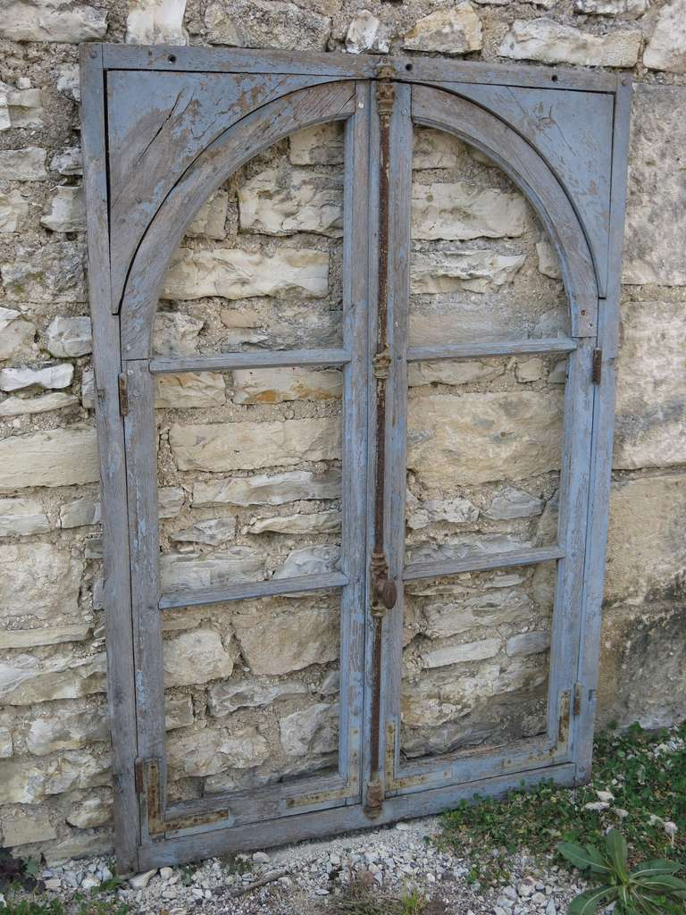 French Antique Window in Wood (Solid Oak) Early 1800s from Paris, France 7