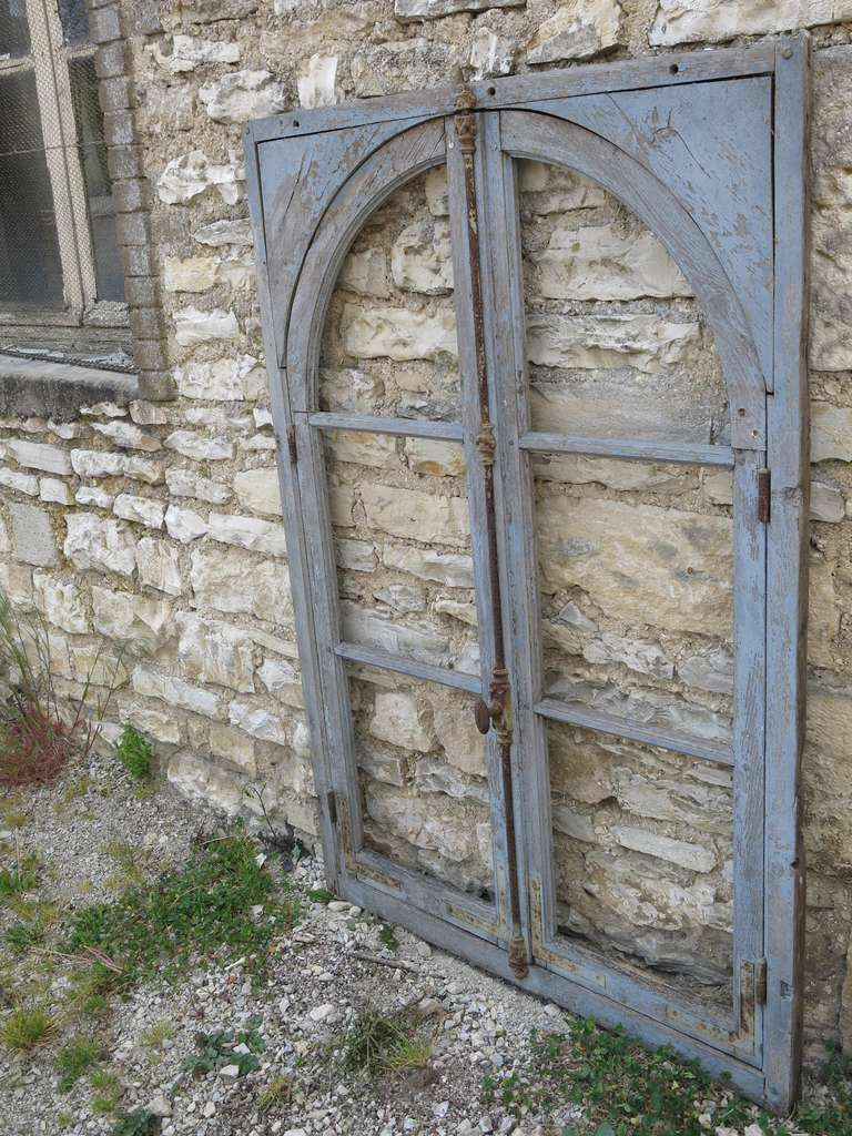 French Antique Window in Wood (Solid Oak) Early 1800s from Paris, France 8
