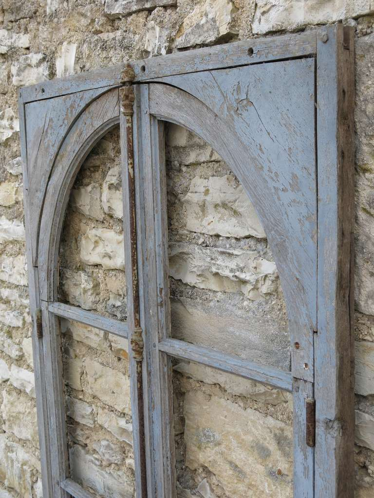 French Antique Window in Wood (Solid Oak) Early 1800s from Paris, France 10