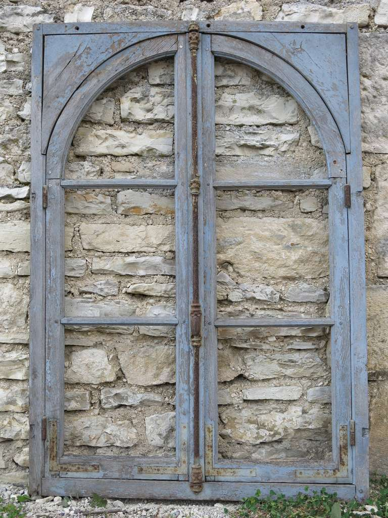 French Antique Window in Wood (Solid Oak) Early 1800s from Paris, France 2