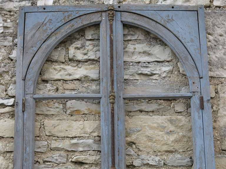 French Antique Window in Wood (Solid Oak) Early 1800s from Paris, France 4