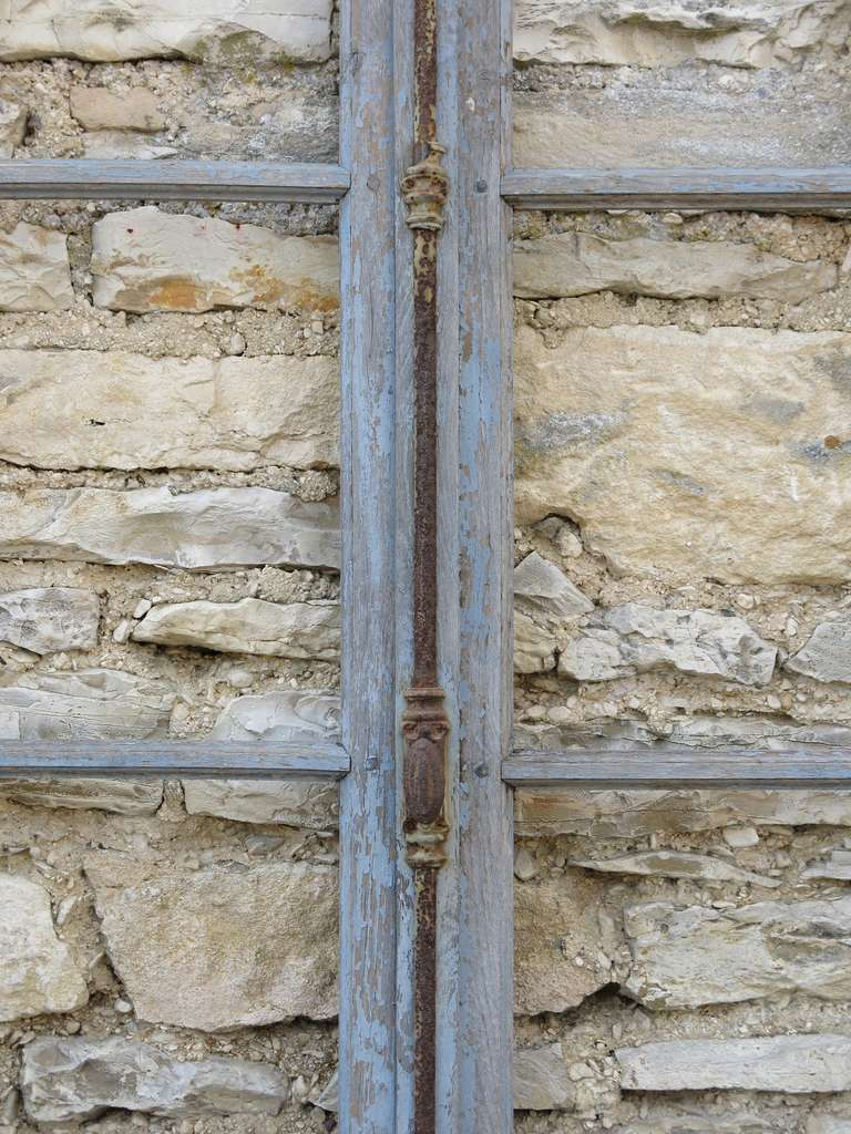 French Antique Window in Wood (Solid Oak) Early 1800s from Paris, France 5