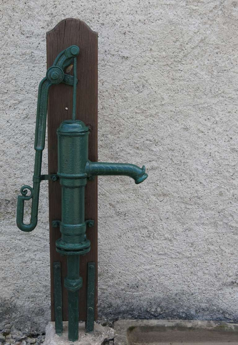 French Fountain Water-Pump Iron Signed