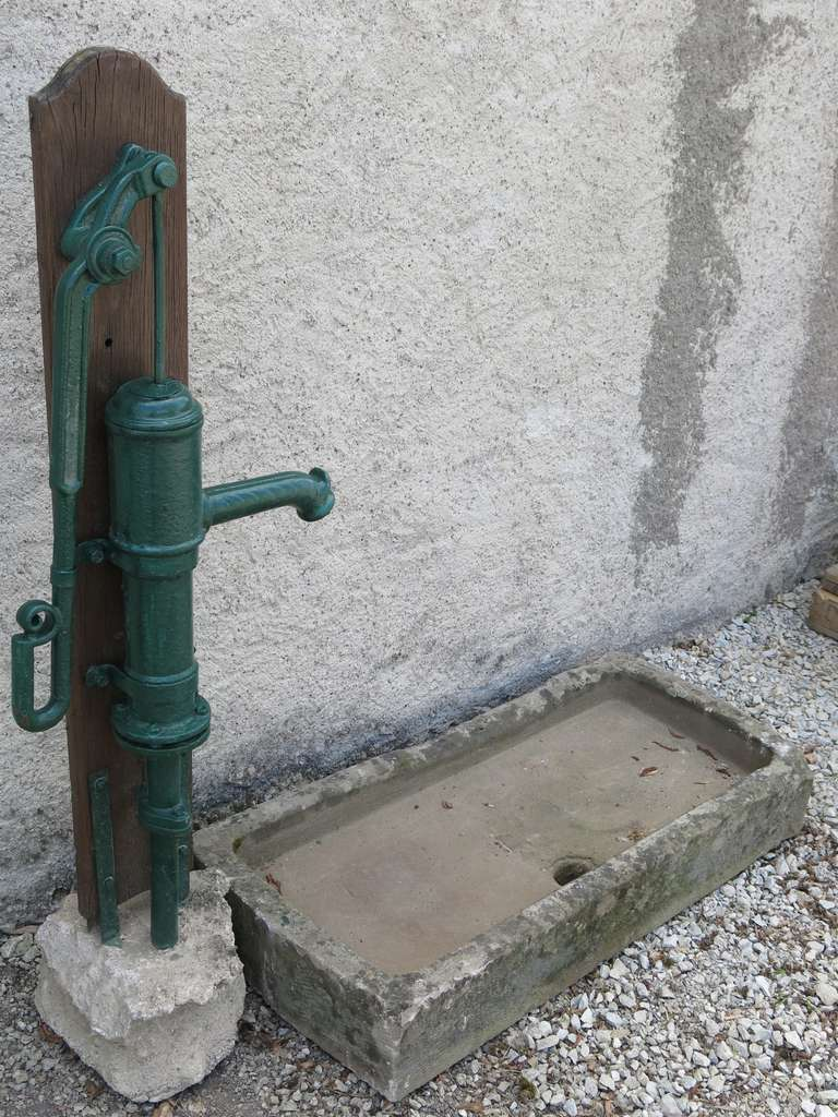 19th Century French Fountain Water-Pump Iron Signed