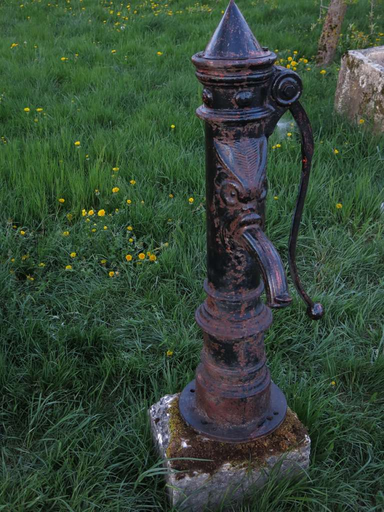 French Dragon Iron Water Pump Circa 1850s From Paris