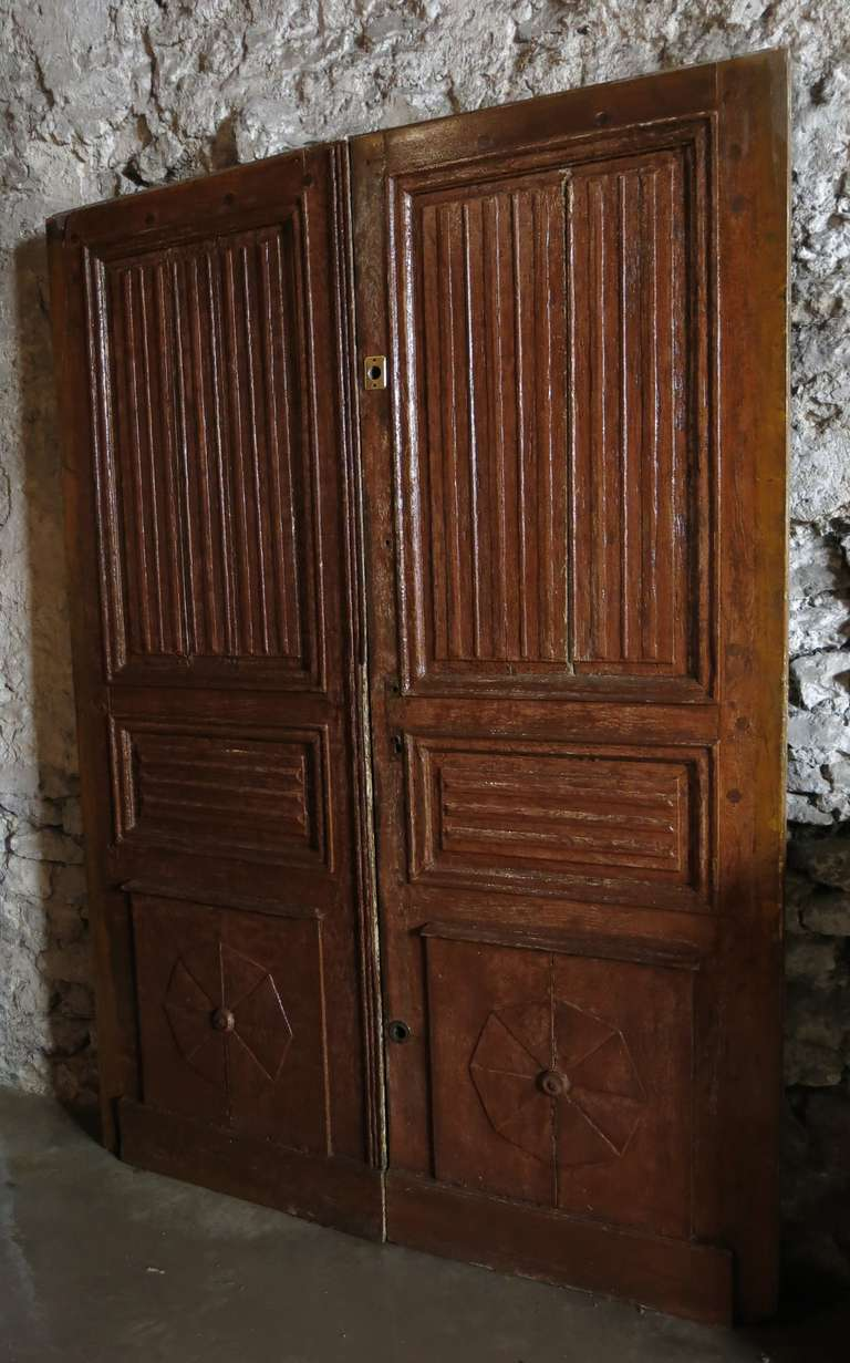 french abbey louis xiii style main entrance doors oak