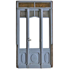 French Art Nouveau Pharmacy Entrance-Doors circa 1930 Nancy City France