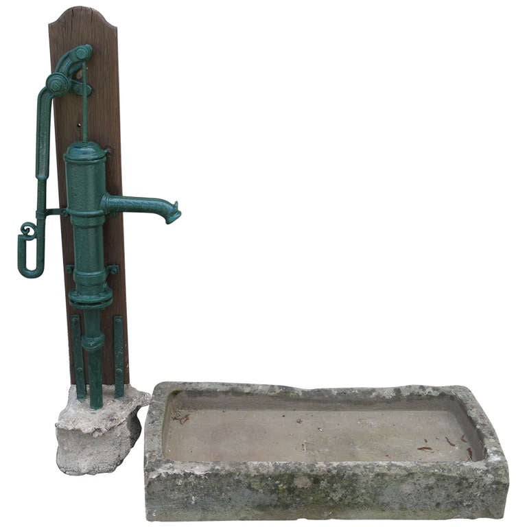 """French Fountain Water-Pump Iron Signed """"Corneau"""" Circa 1870s France.'. For Sale"""