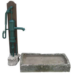 """French Fountain Water-Pump Iron Signed """"Corneau"""" Circa 1870s France.'."""