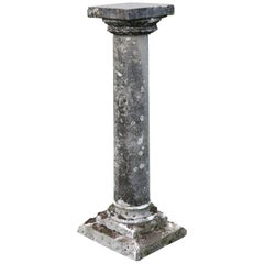 Roman Style Column Handcrafted in Limestone, France, circa 1800