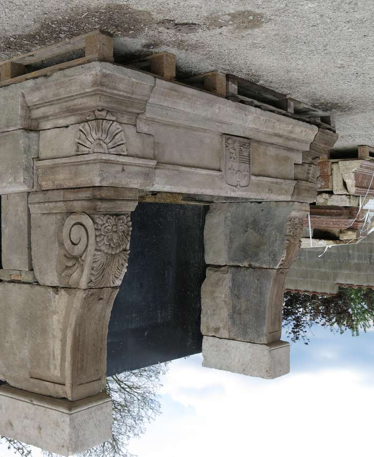 Monumental French Chateau Renaissance Limestone Fireplace France Early 1800s At 1stdibs