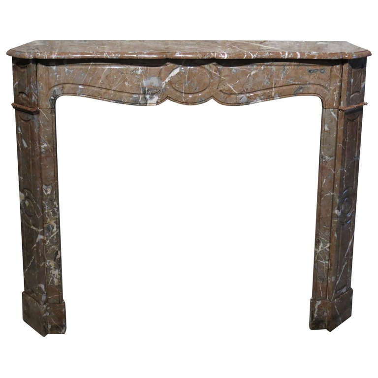 French Parisian Antique Marble Fireplace Hand-Crafted