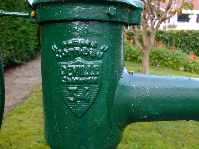 Rustic French Fountain Water-Pump Iron Signed