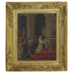 """German Historical Oil Painting """"Johann Schraudolph"""" (signed) Germany, 1846"""