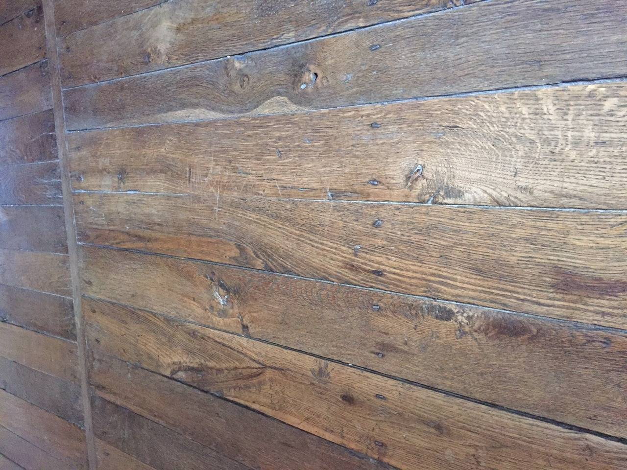Authentic Reclaimed French Antique Wood Oak Flooring 17th Century In Good Condition For