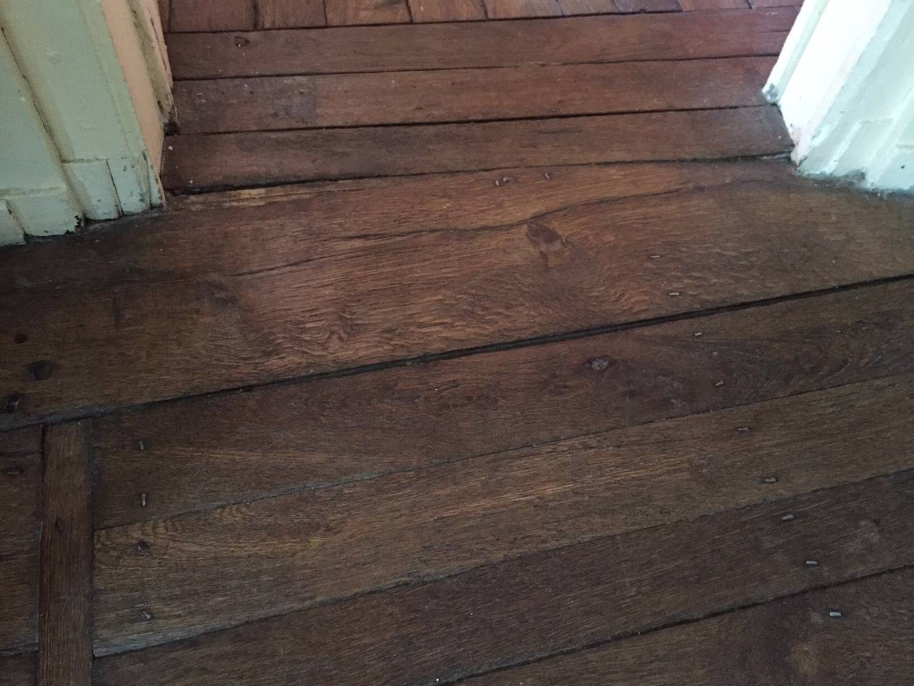 Rare And Authentic French Antique Wood Oak Floor Solid Original From
