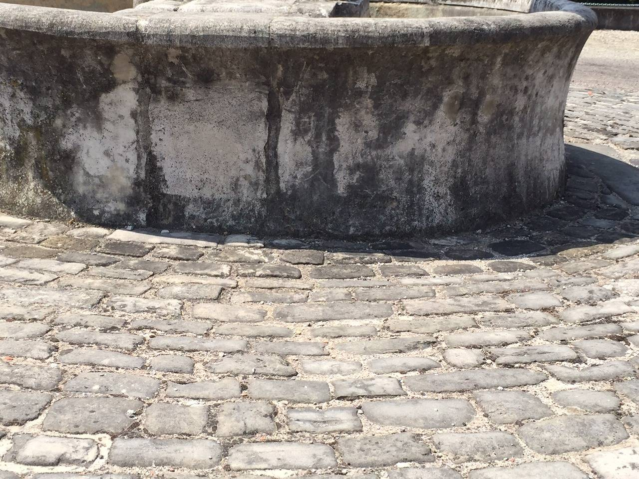 Hand-Crafted Original French Antique Cobblestone, 17th Century For Sale