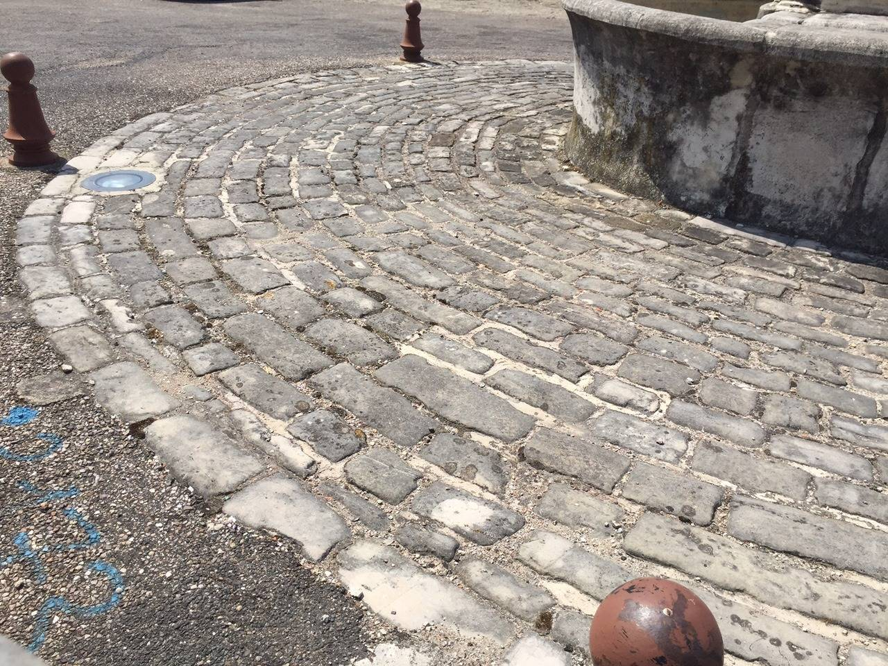 18th Century and Earlier Original French Antique Cobblestone, 17th Century For Sale