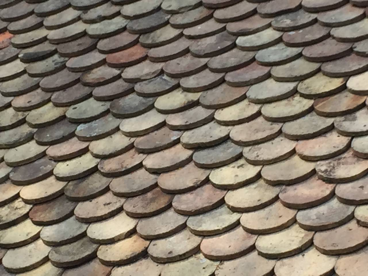 French Original Antique Roof Tile In Terracotta 19th
