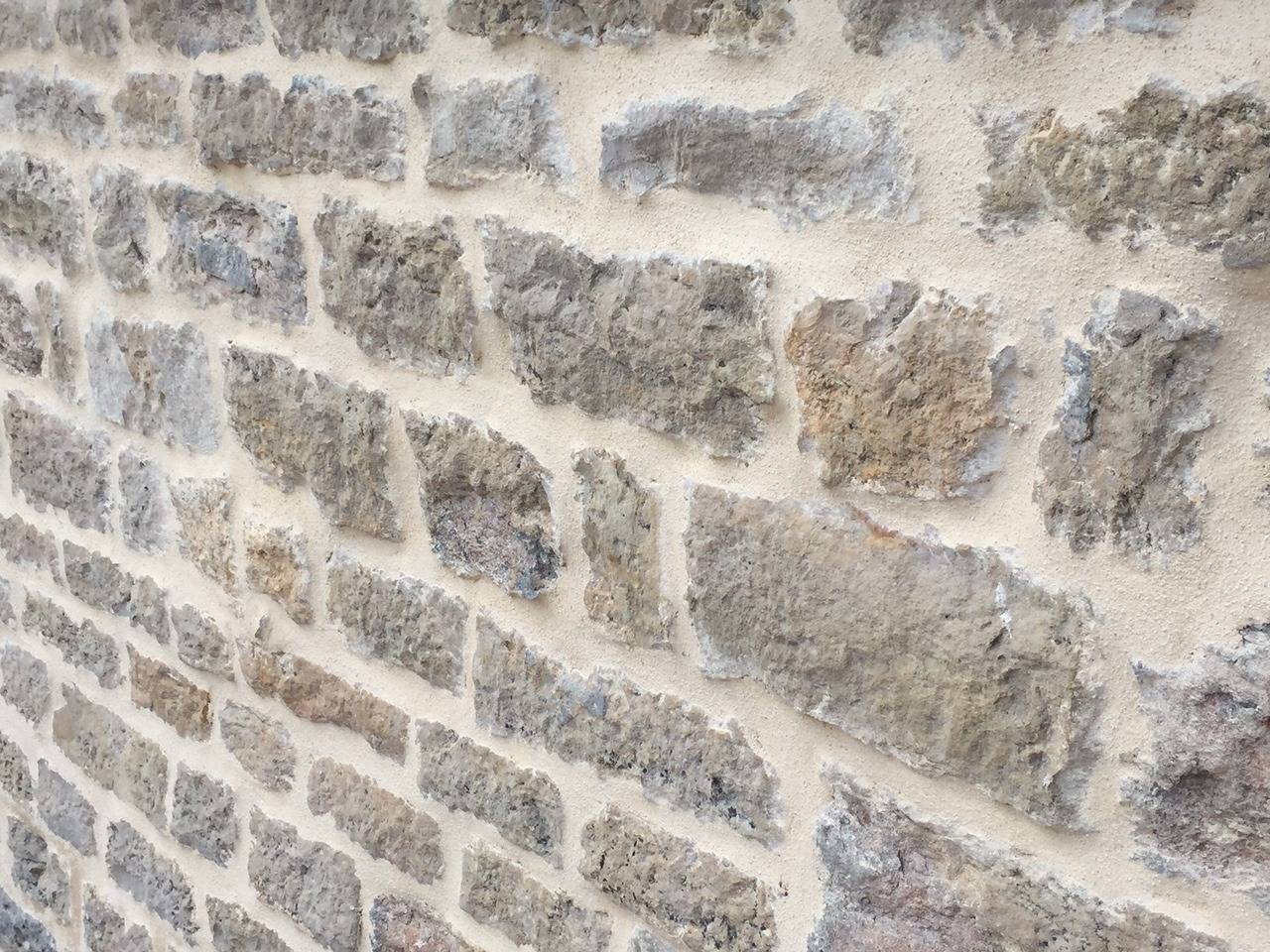 French Antique Limestone Wall Surround, 18th Century, France For Sale 3