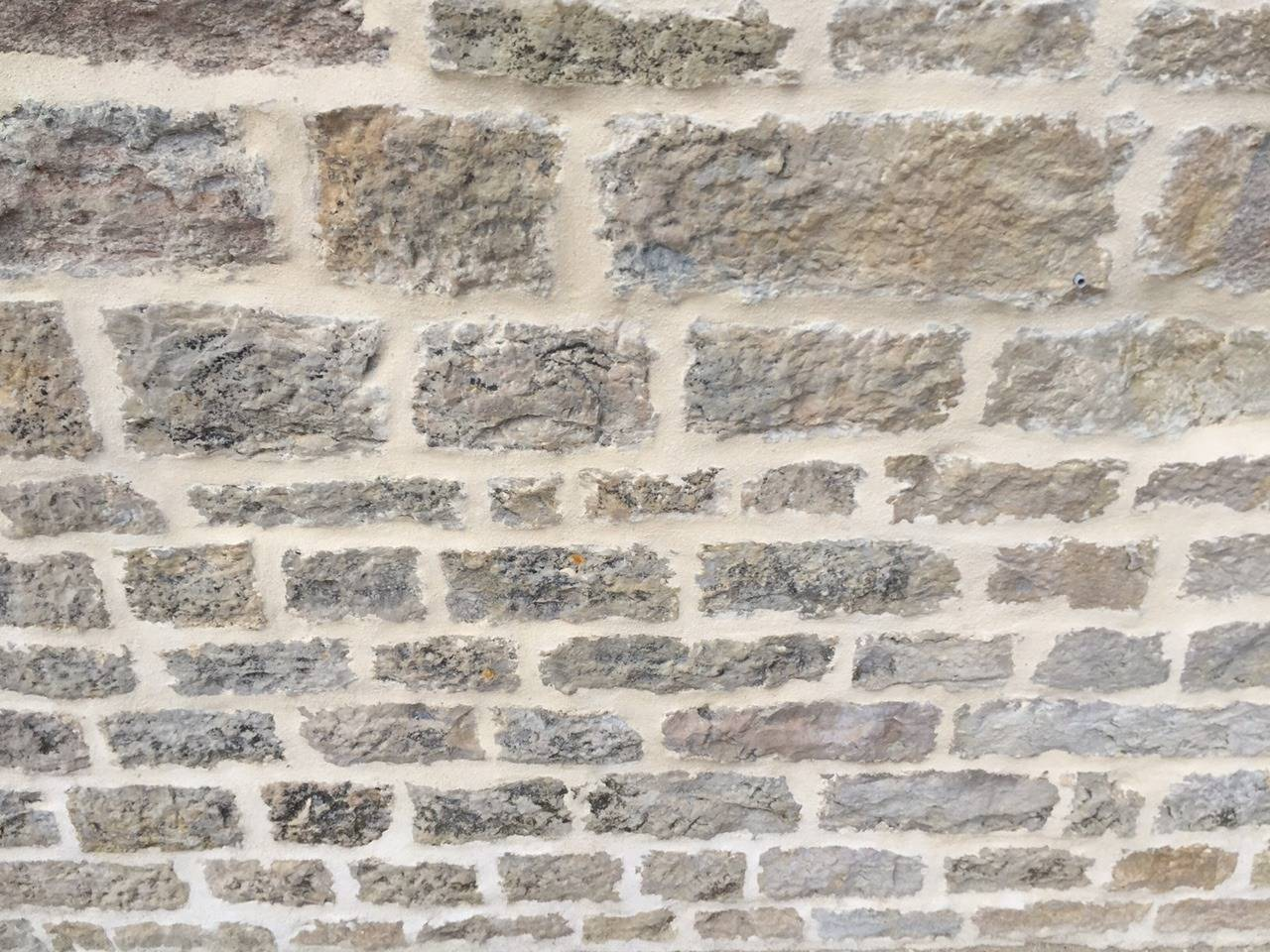 French Antique Limestone Wall Surround, 18th Century, France For Sale 2