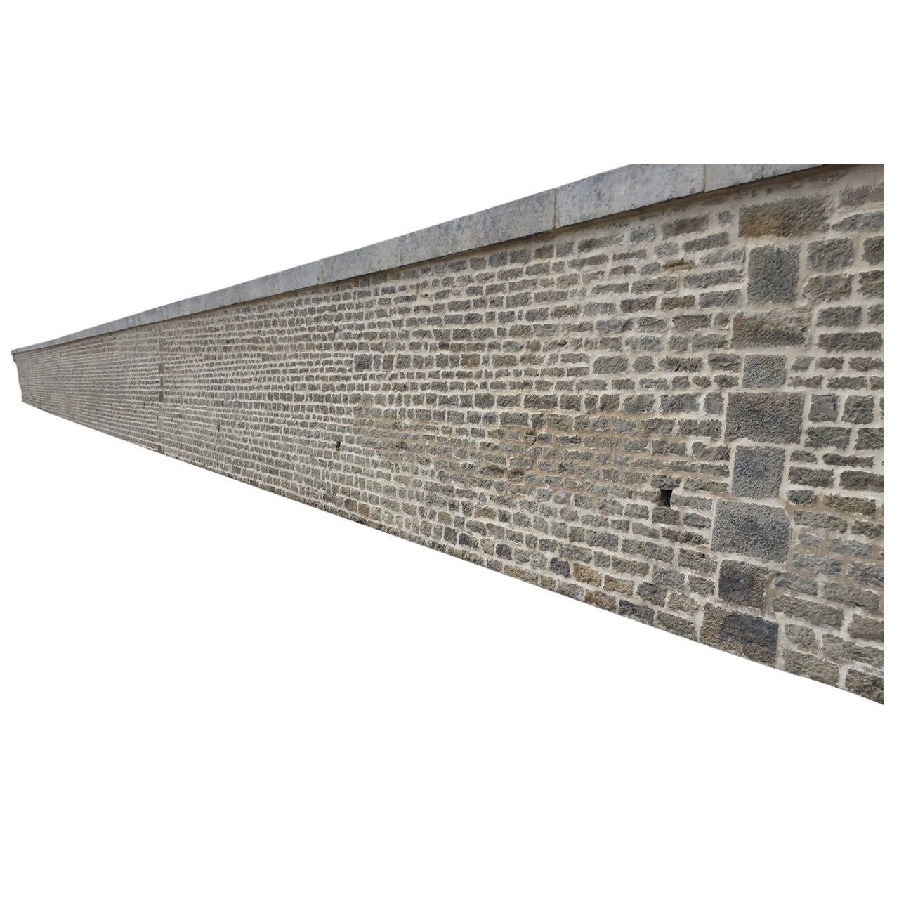 French Antique Limestone Wall Surround, 18th Century, France For Sale