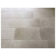 Parisian Style Flooring In Pure and Solid Limestone, Hand-Crafted