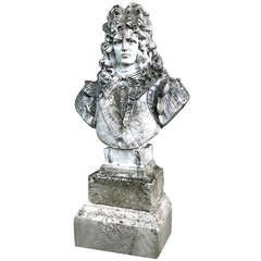 Louis XIV Style Statue in Cast Stone from France circa 1890s