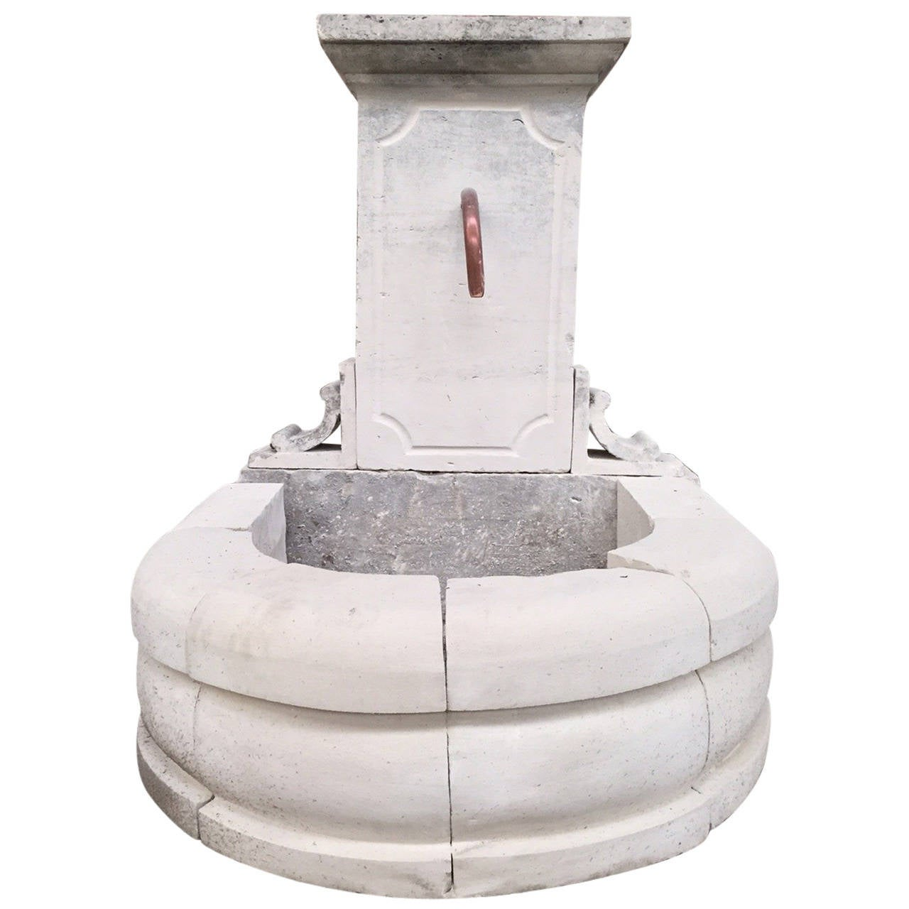 "Louis XIV Style Fountain in Limestone from France ""Provence Style"" For Sale"