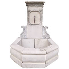 Riviera Coast Style Fountain in Limestone from France