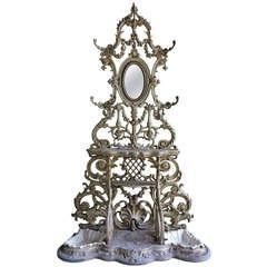 "Rare ""Portmanteau"" A. Corneau Charleville (coat stand) from France, 1850s .'."