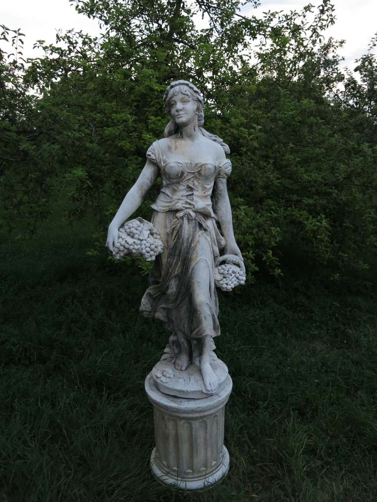 4 Seasons Statues (The Set) in Cast-Stone 20th Century - France 4