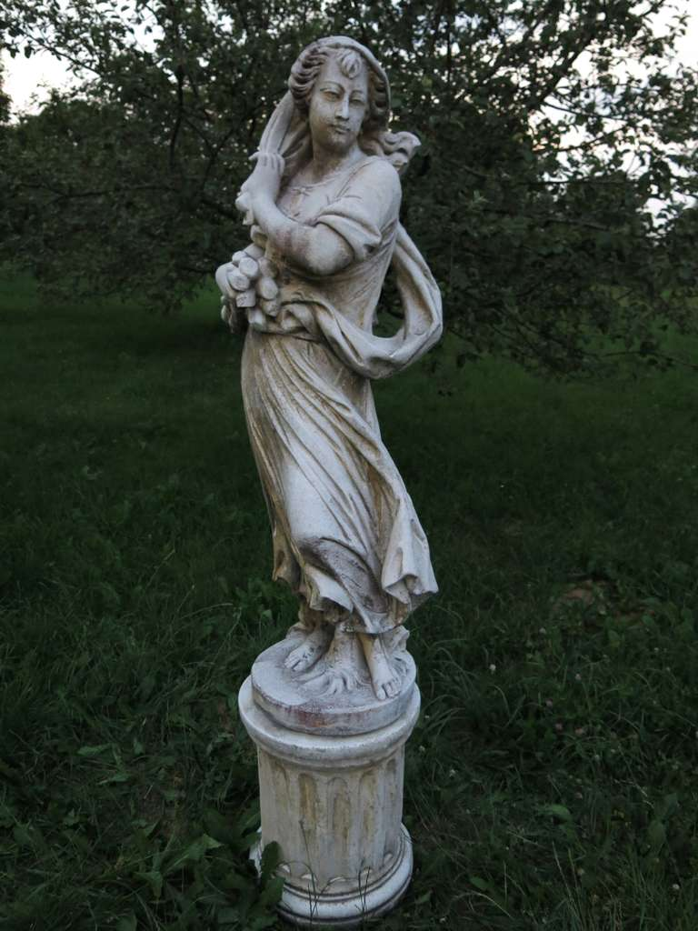 4 Seasons Statues (The Set) in Cast-Stone 20th Century - France 6