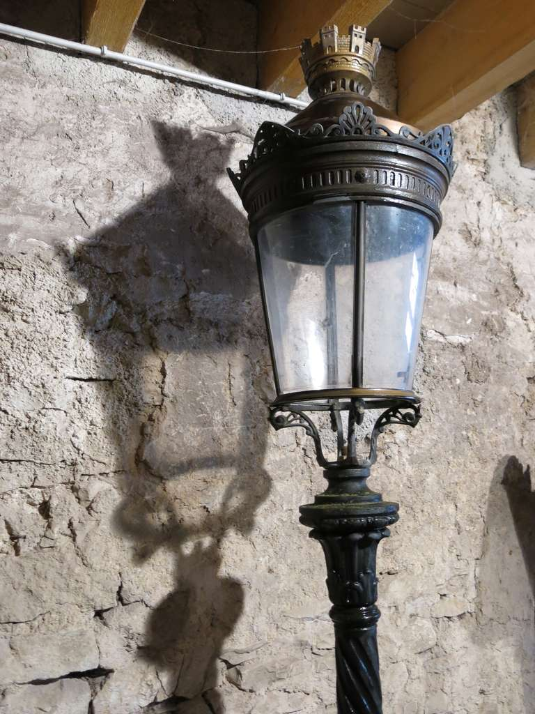 French Antique Parisian Vendome Style Bronze Iron Lantern Paris Circa 1850s At 1stdibs