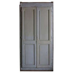 French High Cupboard Doors In Wood Circa 1850s Paris-France.'.