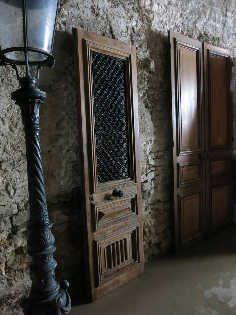 French Renaissance Style Entrance Door In Oak Circa 1800s