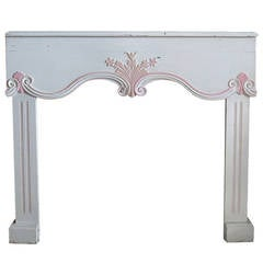 French Louis XV Fireplace in Wood, Handcrafted, circa 1880s, Paris, France