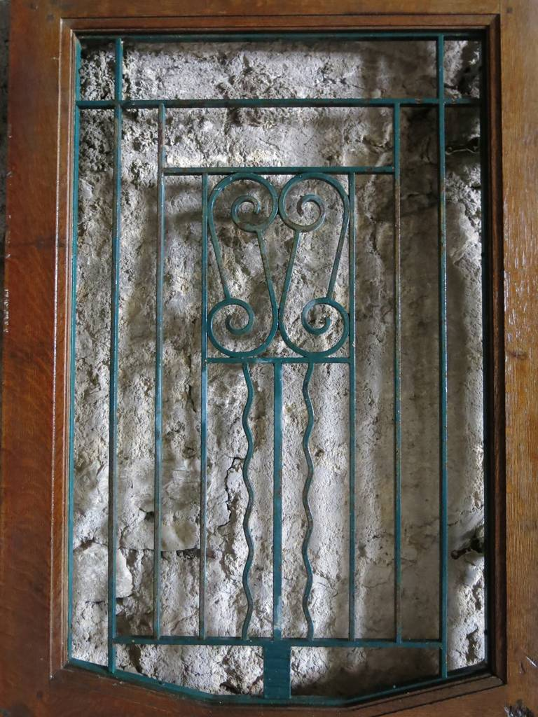 French Art Nouveau Style Front-Door In Wood & Iron Circa 1900s, Paris-France.'. 9