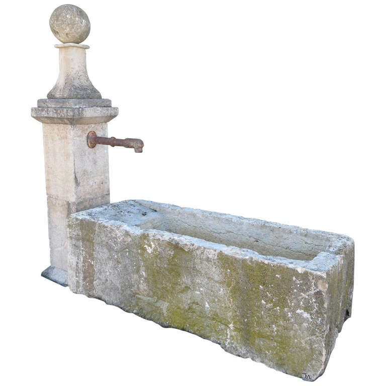 French Old Village Fountain Limestone Water Basin Ca 17th Century At 1stdibs