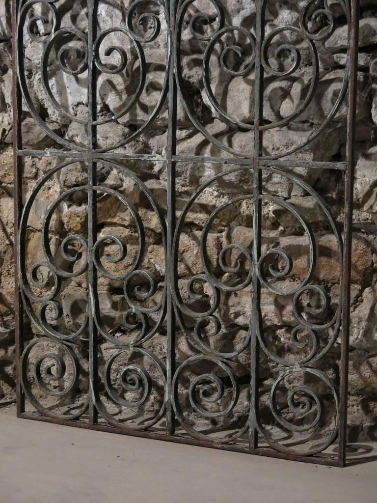 Pair Of French Antique Iron Gates Handmade Paris Circa
