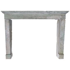 French Countryside Fireplace in Limestone, France, circa 1800s