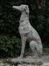 "Greyhound Dog ""Levrier"" in Stone 20th Century France image 2"