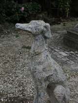 "Greyhound Dog ""Levrier"" in Stone 20th Century France image 3"