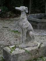"Greyhound Dog ""Levrier"" in Stone 20th Century France image 4"