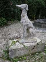 "Greyhound Dog ""Levrier"" in Stone 20th Century France image 9"