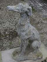 "Greyhound Dog ""Levrier"" in Stone 20th Century France image 10"
