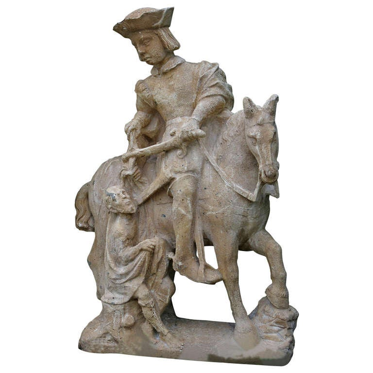 """*Saint-Martin Statue """"Patron Saint of Soldiers & Vintners"""" from France"""
